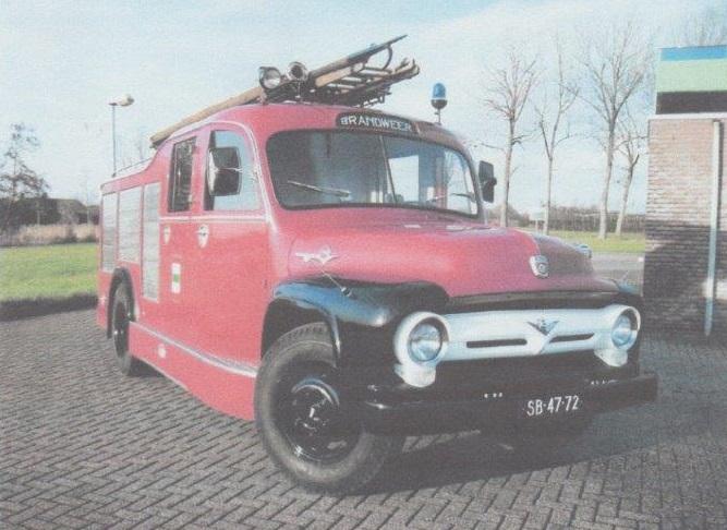 Merk: FordType: F600Type voertuig: Hogedruk, TankautospuitBouwjaar: 1956Standplaats: Druten